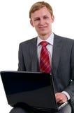 Der Geschäftsmann hinter Arbeit lizenzfreie stockfotografie