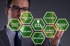 Der Geschäftsmann im Ökologie- und Umweltkonzept stockbilder