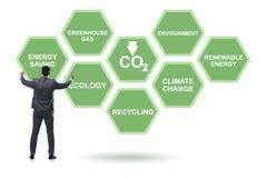 Der Geschäftsmann im Ökologie- und Umweltkonzept stockfotos