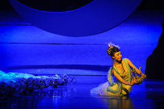 Der Geschmack des fehlenden-Hui Ballettmondes über Helan Stockfotos