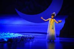 Der Geschmack des fehlenden-Hui Ballettmondes über Helan Stockbild