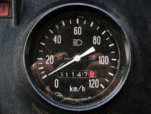 Der Geschwindigkeitsmesser Stockfotografie