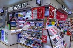 DER GESICHTS-SHOP-Speicher an Mall Bupyeong Modoo, Untertageeinkaufszentrum Bupyeong in Incheon Lizenzfreies Stockbild