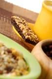 Der Getreidestab mit Dekoration Stockfotos