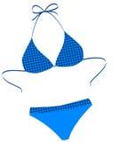Der getrennte Badeanzug auf einem Weiß Stockfotos