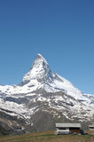 Der Gipfel des Matterhorns Lizenzfreies Stockbild