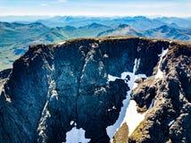 Der Gipfel von Ben Nevis fand nahe Fort William, Schottland Stockfotografie