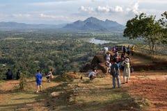 Der Gipfel von Sigiriya-Felsen in zentralem Sri Lanka Stockfoto