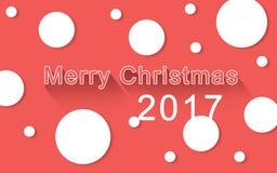 Der glückliche Hintergrund der frohen Weihnachten lizenzfreie abbildung