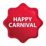 Der glückliche nebelhafte Karneval stieg roter starburst Aufkleberknopf lizenzfreie abbildung