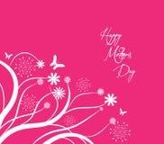 Der glückliche Tag der Mütter mit Blumen und Schmetterlinge Hintergrund vektor abbildung