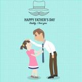 Der glückliche Vatertag mit linearem Artsymbol Stockbild