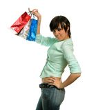 Der glückliche Verbraucher lizenzfreies stockbild