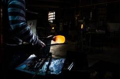 Der Glashersteller Stockbild