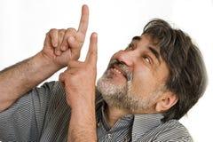 Der glückliche bärtige Mann Stockbilder