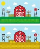 Der gleiche Bauernhof in der unterschiedlichen Jahreszeit Lizenzfreie Stockfotografie