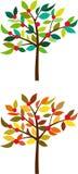 Der gleiche Baum in den verschiedenen Jahreszeiten Stockbilder