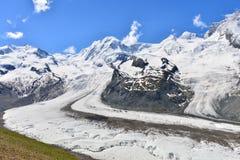 Der Gletscher lizenzfreie stockfotos