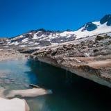 Der Gletscher in den Alpen stockfotos