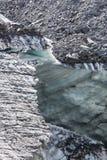 Der Gletscher des Beluha-Berges, Altai Stockfoto