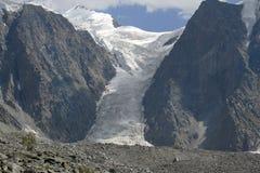 Der Gletscher Myushtu-Ayry stockbild