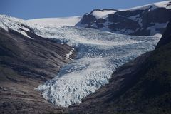 Der Gletscher Svartisen Stockbilder