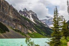 Der Gletscher und der See Stockbild