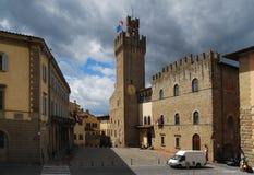 Der Glockenturm in Arezzo toskana Italien Stockfotos