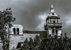 Der Glockenturm des Klosters in Valldemossa Stockfotografie