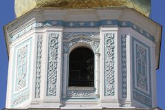 Der Glockenturm des St. Sophia Cathedral in Kiew ukraine fragment Stockfotos
