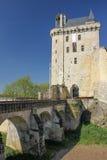 Der Glockenturm Festung Chinon frankreich Stockfotos