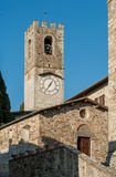 Der Glockenturm von Badia ein Passignano Lizenzfreies Stockbild