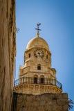 Der Glockenturm von Dormitions-Abtei in Jerusalem Stockfotos
