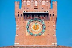 Der Glockenturm von Sforza-Schloss, Mailand Lizenzfreie Stockbilder