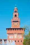 Der Glockenturm von Sforza-Schloss, Mailand Stockfoto