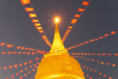 Der goldene Berg Stockbild