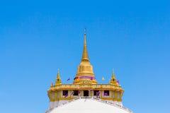Der goldene Berg bei Wat Saket Stockbild