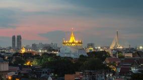 Der goldene Berg bei Wat Saket, Reise-Markstein von Bangkok THAILA Lizenzfreie Stockbilder
