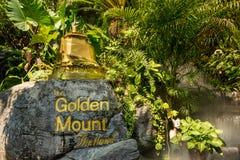 Der goldene Berg bei Wat Saket, Reise-Markstein von Bangkok THAILA Lizenzfreies Stockbild