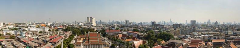Der goldene Berg bei Wat Saket, Reise-Markstein von Bangkok THAILA Stockfoto