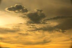 Der goldene Himmel Lizenzfreie Stockbilder