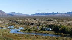 Der goldene Nationalpark des Kreises und Thingvellir stockfoto