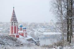 Der goldene Ring von Russland Yaroslavl-oblast Tutaev Kasan-Kirche der Transfiguration Stockfotografie