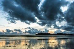Der goldene Strand Lizenzfreie Stockfotografie
