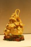 Der Goldflaschenkürbis Lizenzfreies Stockfoto