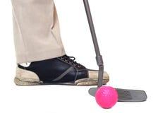 Der Golfspieler. Stockfoto