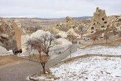 Der Goreme Nationalpark am Winter Stockbild