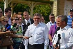 Der Gouverneur der Tyumen-Region Vladimir Yakushe Lizenzfreie Stockbilder