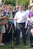 Der Gouverneur der Tyumen-Region Vladimir Yakushe Stockfotografie