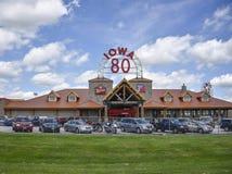 Der größte Fernfahrerrastplatz Iowa 80 der Welt Stockbild